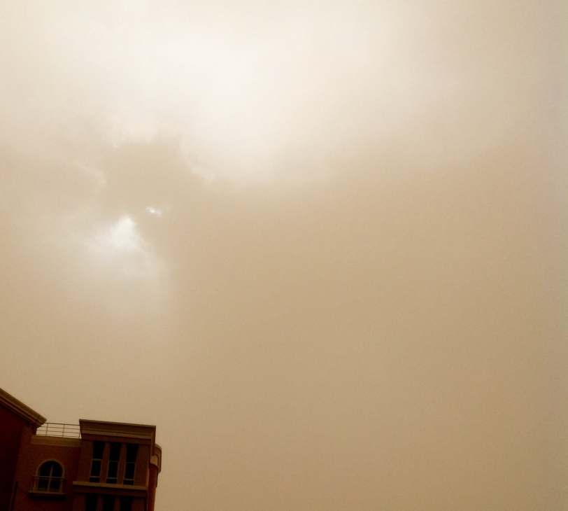 The world in sepia (thanks to the Mission Impossible style sandstorm)